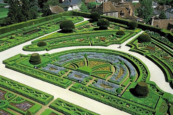De tuinen van de Hautefort Chateaux