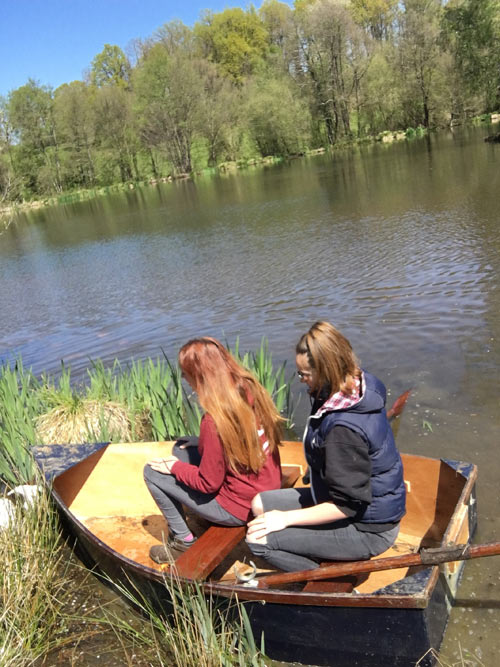 Row-boating on the lake