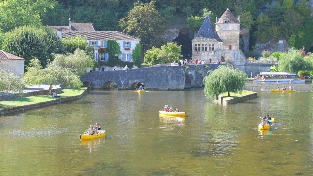 Canoeing at Brantome, Dordogne